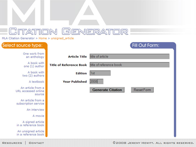 mla format maker Try our online mla format generator now save your time and get perfect results.